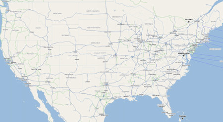 OpenStreetMap of USA