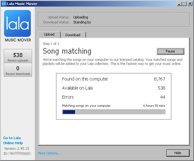 Lala Music Mover screenshot