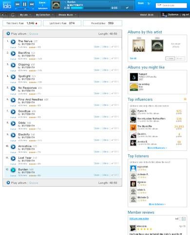 Lala.com screenshot