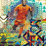 Mickaël Essien World Cup poster