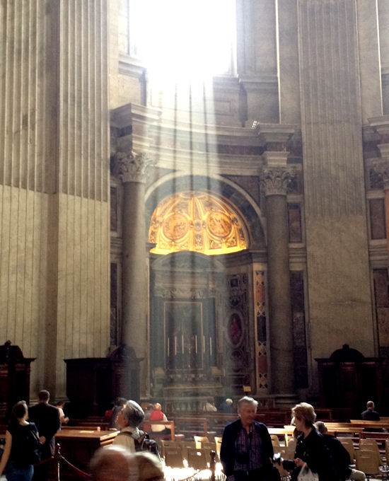 Sunbeam in St. Peter's