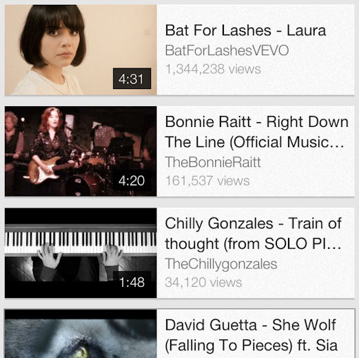 Best of 2012 YouTube playlist