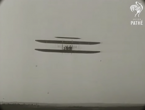 Wright flying in France. 1908. Pathé.